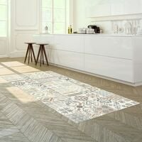 Tapis Vinyle - Carreaux de ciment naturel - 100 x 160 cm