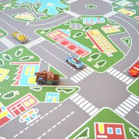 Tapis Vinyle pour les enfants - Les rues de la ville verte - 150 x 200 cm
