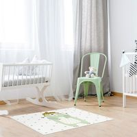 Tapis vinyle pour chambre d'enfants - Ours polaire - 66 x 95 cm