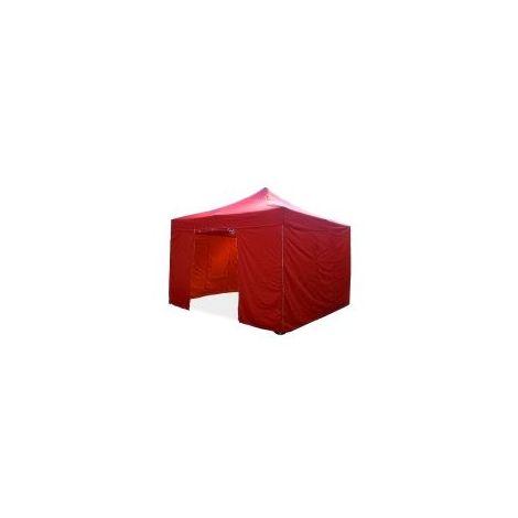 Barnum pliant tonnelle 4x4m Pack complet Alu 40 polyester 300g/m² pelliculé PVC  - Rouge