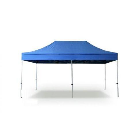 Tente pliante 3x4,5m polyester 300g/m² pelliculé PVC tube acier 32mm  - Bleu Azur