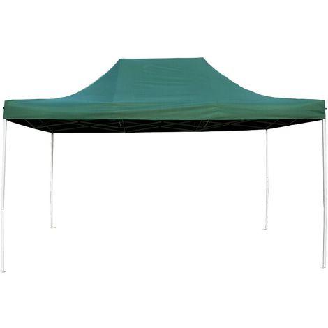 Tente Pliante Tonnelle de jardin 3x4,5m en Polyester 180g/m² + sac de transport Vert - Vert