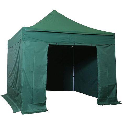 Barnum pliant tonnelle 3x3m Pack complet Alu 40 polyester 300g/m² pelliculé PVC Vert Foncé - Vert Foncé