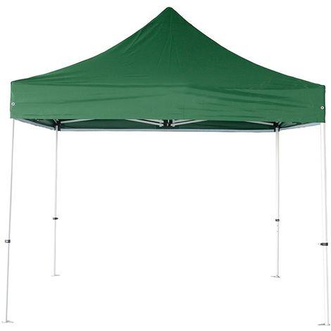 Tente pliante pergola tente de jardin tonnelle 3x3 M Acier 32mm - Bâche 300g/m² Vert foncé - Vert foncé