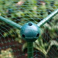 Build-a-Ball' Fruit Cage Connector - Build DIY Fruit Cages, Greenhouses, Plant Protection Covers, Netting Frames & More (Pack 4)