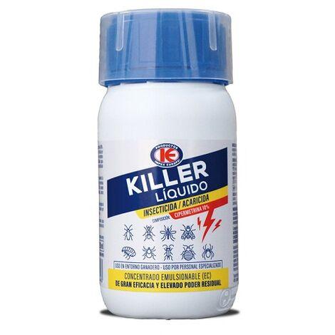 Killer Insecticida Líquido Emulsionable Control Insectos Rastreros y Voladores - 250 ml
