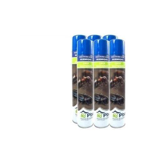 Insecticida PBA Lafin Laca Insectos Rastreros, Cucarachas y Hormigas - Pack Ahorro 6x Spray 750 ml