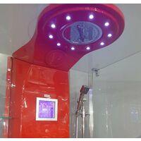 Cabina Hidromasaje Apolo redonda Color: Rojo - Rojo