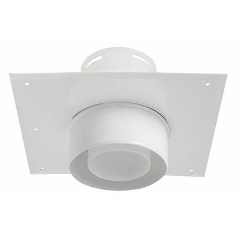 Plaque plafond C9 avec tuyau 15cm Ø80/125mm