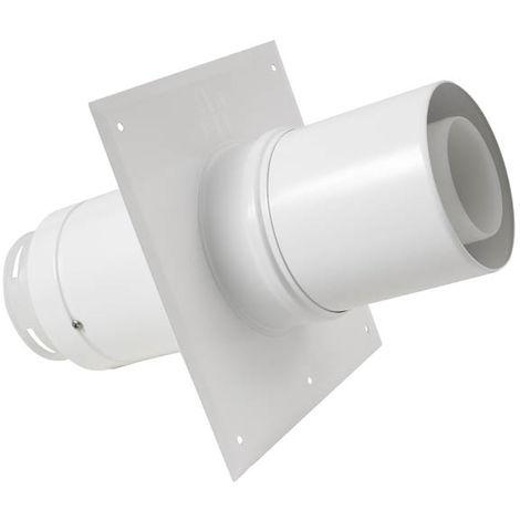 Plaque plafond C9 avec tuyau télescopique Ø80/125mm
