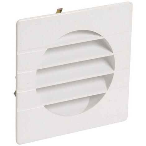Grille extérieure pour tube PVC Ø100 blanc moustiquaire