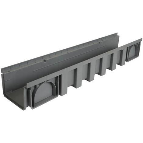Caniveau 1m polypropylène largeur 200 gris
