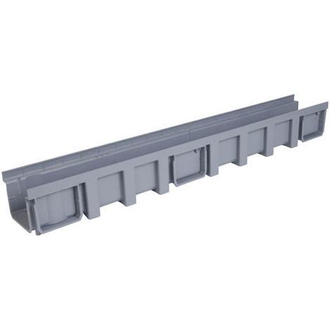 Caniveau 1m polypropylène largeur 130 gris
