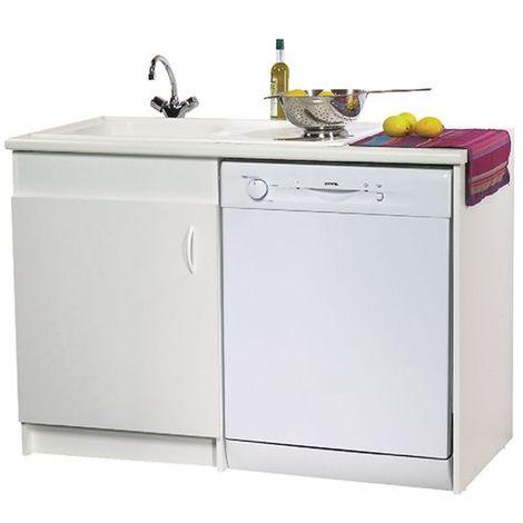 Meuble sous-évier N.F.Lave vaisselle 1 porte blanc 1200x600