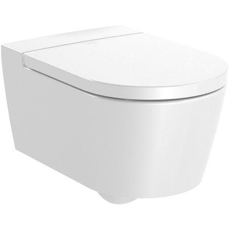 Cuvette WC suspendue Inspira round sans bride 560x370- Roca A346527000