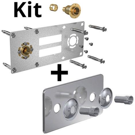 Kit ROBIFIX PER Ø16 - droit F 1/2 glisse + cache inox 150mm