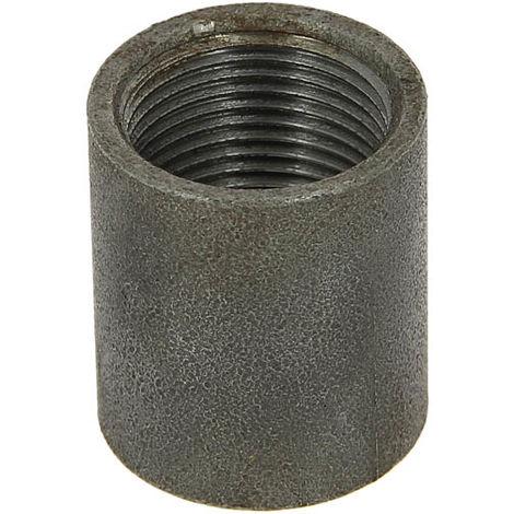 Manchon acier noir égal 36mm pour bobine taraudé cylindrique Femelle 3/4