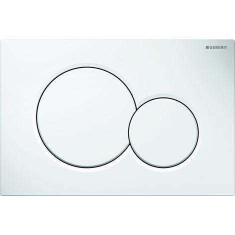 Plaque de déclenchement 3/6L Geberit Sigma01-Blanche