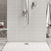 Receveur de douche VENISIO résine Blanc grille carrée - 1200x900