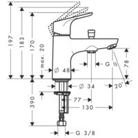 HANSGROHE Focus Mitigeur bain/douche monotrou avec cartouche 2 vitesses chromé