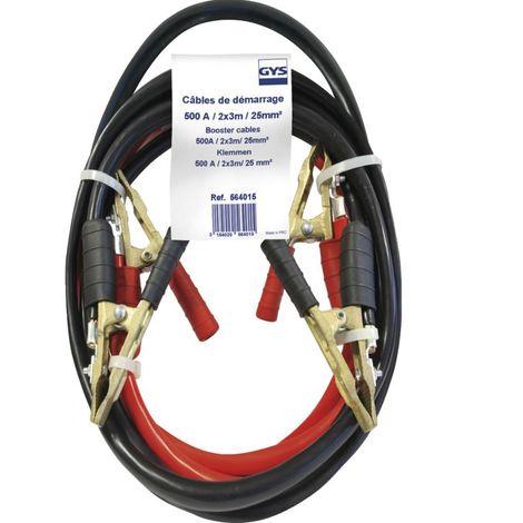 Jeu de cables de démarrage 3 mètres 25mm² Gys