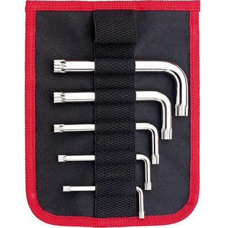 Jeu de clés coudées XZN, 5 pièces, Contenu : M5 M6 M8 M10 M12