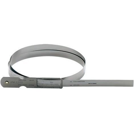 Mètre à ruban d'acier pour circonférence et Ø, Pour circonférence : 5960-7230 mm, Pour Ø 1900-2300 mm, Vernier 0,1 mm