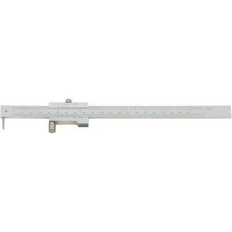 Trusquin à tracer à molette, Plage de mesure : 200 mm, Vernier inférieur 1/20 mm, Vernier supérieur 1/128 inch