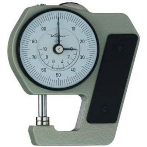 Contrôleur d'Épaisseur : de poche, Plage de mesure : 0-10 mm, Profondeur d'étrier 18 mm, Lecture 0,01 mm, Type : J 15