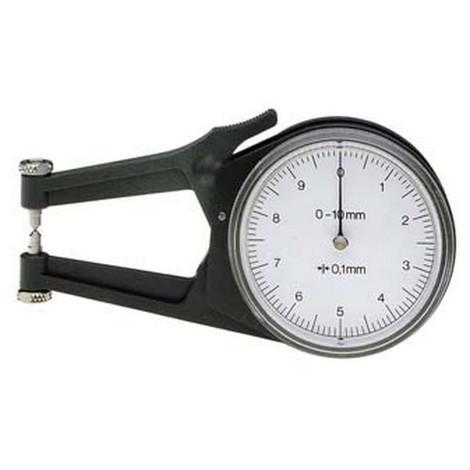 Contrôleur d'Épaisseur : rapide Poco, Domaine d'utilisation : 0-10 mm, Plage de mesure 10 mm, Graduation de l'échelle 0,1 mm