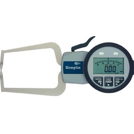Contrôleur d'Épaisseur : rapide à affichage analogique/numérique, Domaine d'utilisation : 0-50 mm, Plage de mesure 50 mm, Graduation de l'échelle 0,020 mm