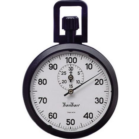 Chronomètre de précision à couronne, Graduation : 1/100 min, Durée d'affichage 30 min, Poids 75 g