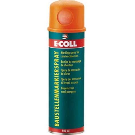Spray de marquage pour chantier aérosol 500ml rouge E-COLL 1 PCS