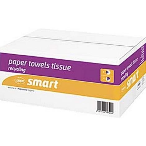 Papier pour essuie-mains WEPA Smart, Dimensions : 25 x 50 cm, Carton de 2400 feuilles, Feutre Épais. :s, Graduation : 20 x 120, Couleur nature