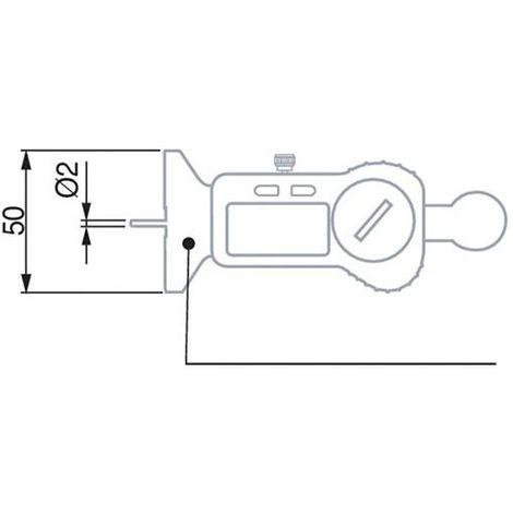 Pied coulisse profondeur num. IP670-25mm a. tige TESA