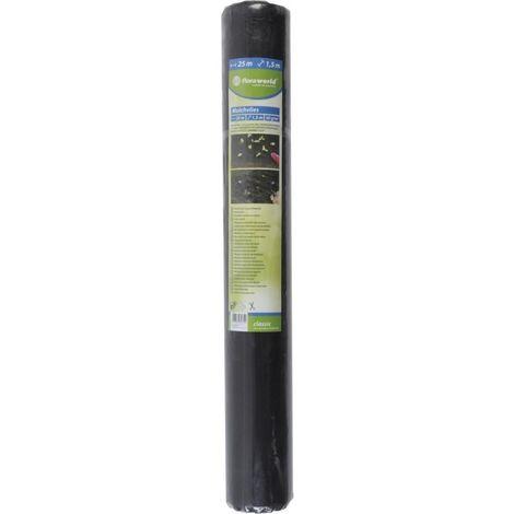 Bâche anti mauvaise herbe 25x1.5m 50g noir