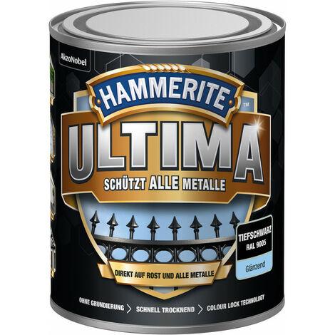 Laque de protection des métaux matt Ultima (WB) 750 ml noir profond (Par 3)