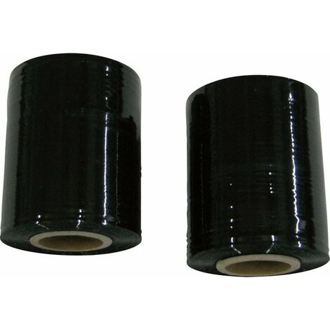 Film étirable noir 23my500mm haut, 300m long (Par 6)