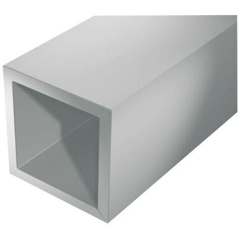 Aluminium tube carré 1000/10x10x1mm argent