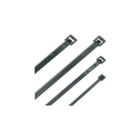 Serre cable nylon noir, 98 X 2,5