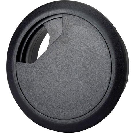 Passe-cable pour plateau de table noir, 72x60x21 mm (Par 10)