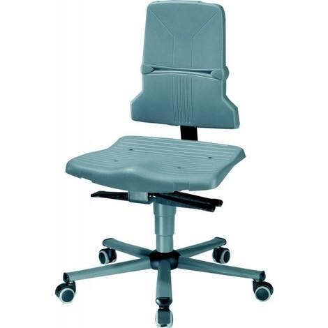 Chaise de travail ESD Sintec 2 sur roulettes - gris - Dossier Contact permanent - 9803-1000