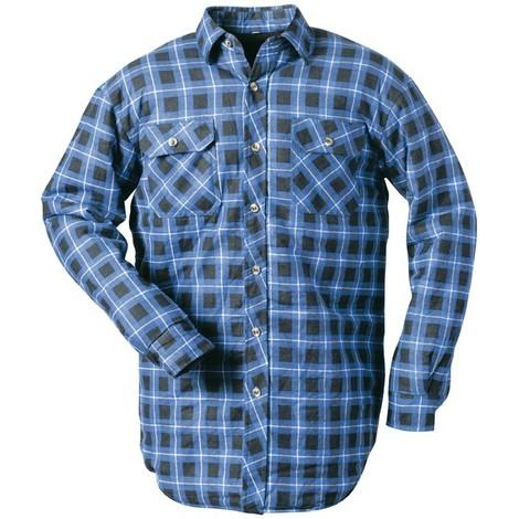 Chemise de travail hiver Taille L, bleu-à carreaux