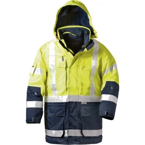 Parka haute visibilité JEKYLL Taille 3XL, jaune/bleu