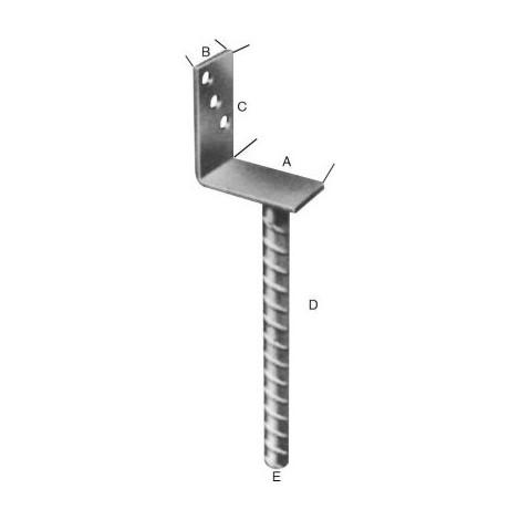 ADGO/® TT Support de fixation pour poteau de cl/ôture 90 mm Vis pour poteau de cl/ôture galvanis/é /à chaud Manchon coulissant Support de support de sol Manchon de sol Slide-in Manchon en acier Argent/é