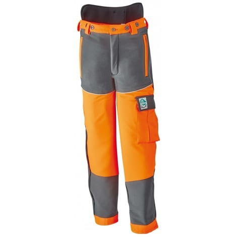 Pantalon anti coupure ,Taille 46/48,anthr./ orange