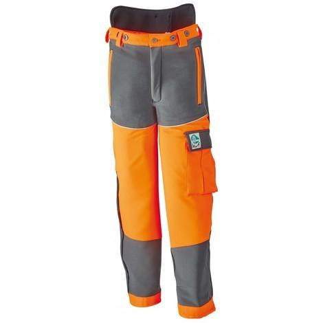 Pantalon anti coupure ,Taille 58/60,anthr./ orange