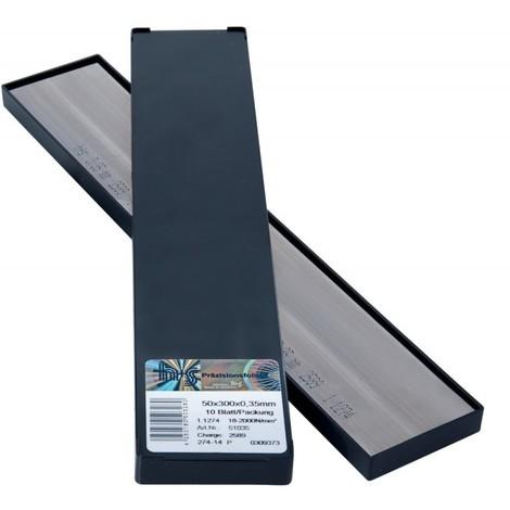 Feuille métalique. inoxydable 50x300x0,40mm 10Bl/P H+S
