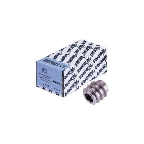 Inserts filetés DIN 7965 ST avec ISK M5x10x10 HP (RAMPA) (Par 50)
