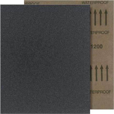 Papier abrasif FP papier imperméable 280x230mm SC, Grain 600 FORTIS